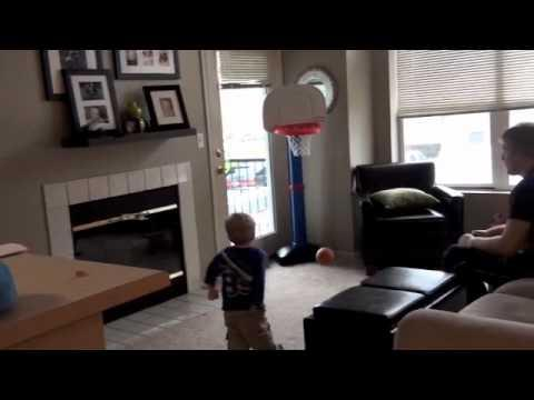 Cute - Two Year Old Makes All Basketball Shots