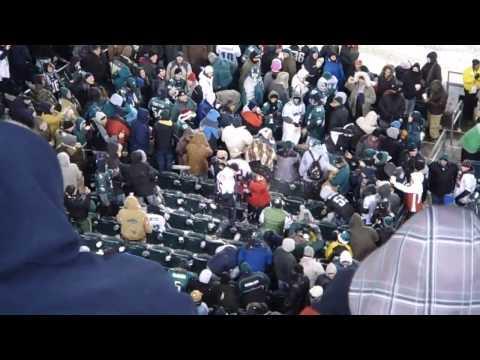 How Philadelphia Eagles Fans Treat Their Rival Team Fans - FAIL