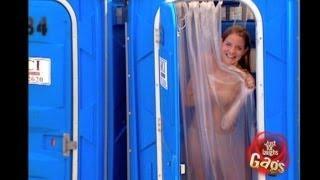 Girl Taking Shower In The Porta Potty Prank