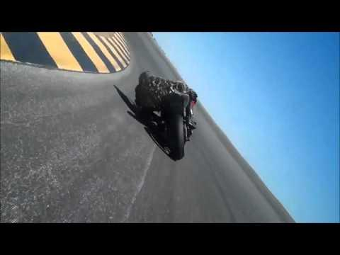 Crazy Motorcycle Rider Touches The Road While Making Turns