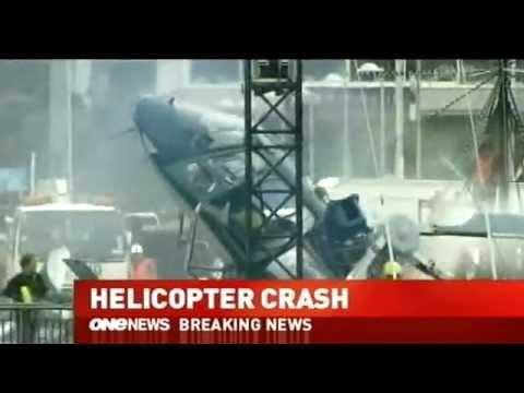 Scary - Helicopter Crash At Auckland Waterfront