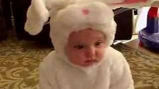 Baby Girl Doesn't Like The Halloween Costume