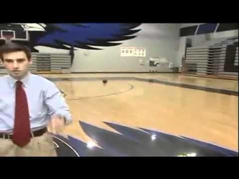 WIN - Epic Reporter's Backwards Basketball Shot