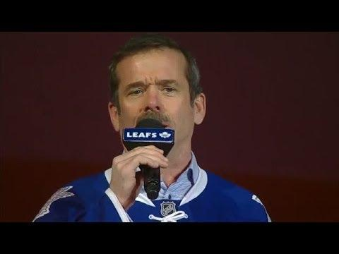 Chris Hadfield Sings The Canadian Anthem At The Toronto Maple Leafs Game