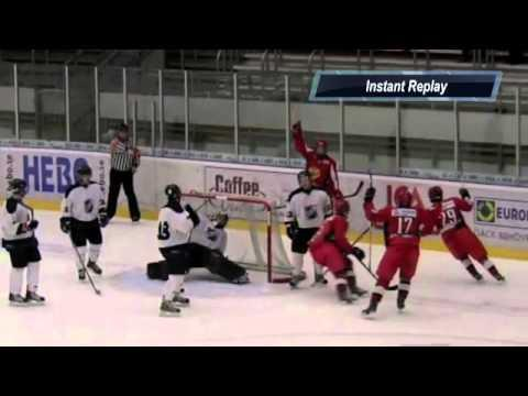 WIN - Hocky Player Uses Goalie's Head To Score