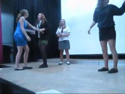 FAIL - Girl Gets Pushed Off The Stage