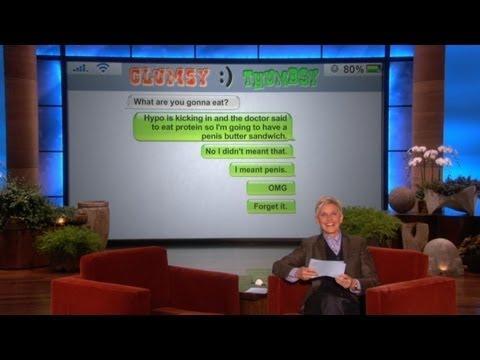 Ellen - Breaking Dawn Cast On Erection Autocorrection FAIL