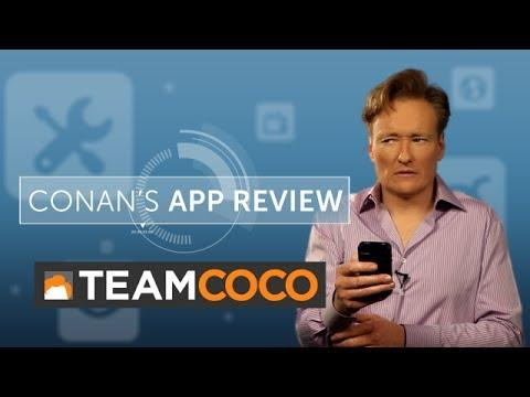Conan's Funny Review Of Stress Relief Apps