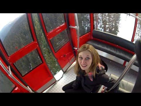 Crazy Guy Base Jumps From The Gondola Lift
