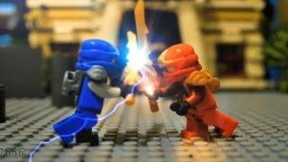Ninja LEGO Fight Stop Motion Animation
