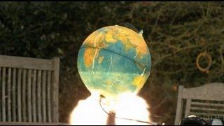 Planet Earth Exploding In Slow Motion