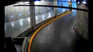 Stupid Bicyclist Vs Garage Gate FAIL
