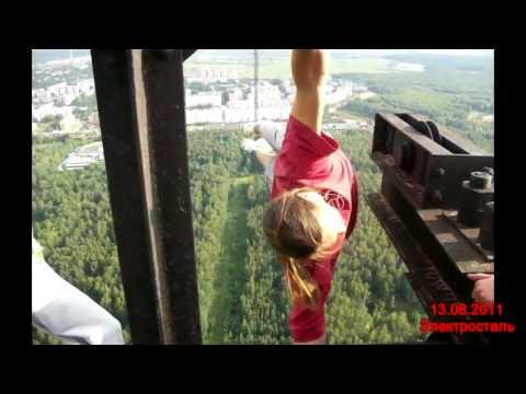 Crazy Guys Climb The Shanghai Tower - Crazy guy base jumps radio tower