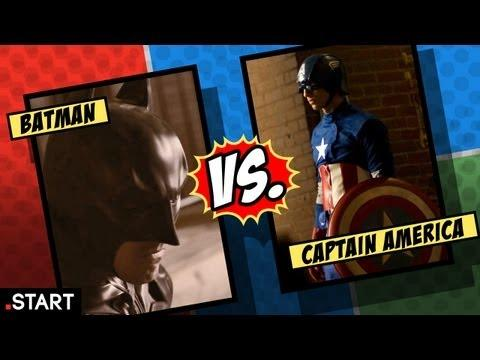Cool - Batman Fights Captain America