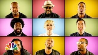 We Can't Stop Song A Capella Cover By Miley Cyrus, Jimmy Fallon And The Roots