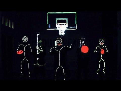 Glow In The Dark Trick Shots By Dude Perfect