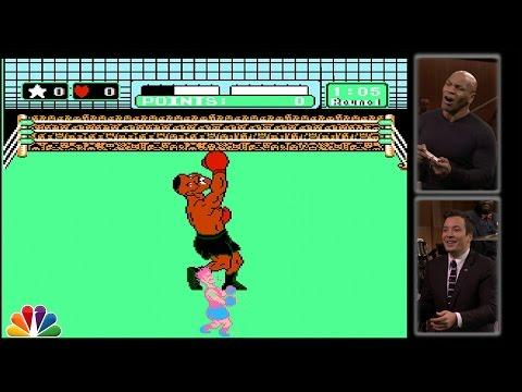 Mike Tyson Plays Punch Out Game With Jimmy Fallon