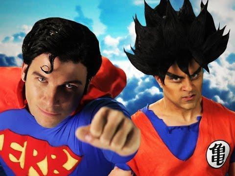 Epic Rap Battle Between Superman And Goku