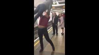 Guy Body Slams The Girl FAIL