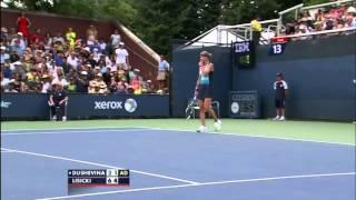 Squirrel Interrupts The Tennis Match Between Sabine Lisicki And Vera Dushevina