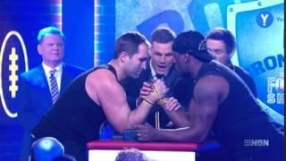 Ben Ross Breaks Arm Live on Footy Show