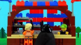 Lego Darth Vader And Luke Skywalker Celebrate Father's Day
