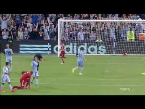 Toronto FC's Bright Dike Makes A Goal With His Shoe