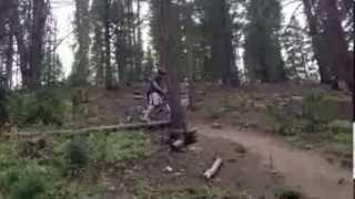 Funny Biking Over The Log FAIL