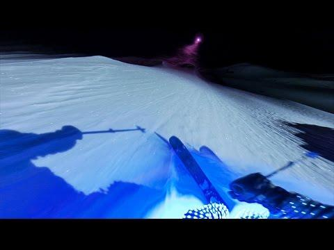 Epic Night Time Skiing With LED Lights