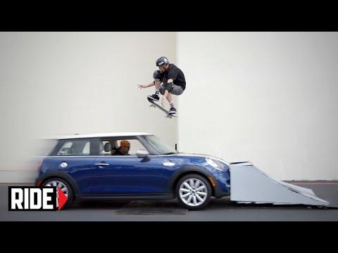 Tony Hawk's Amazing Skateboard Jump Over The Car