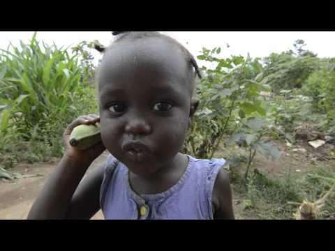 Cute Little Girl Tries To Use Banana As A Phone