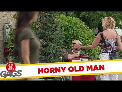 Old Man's Heartbeat Goes Up When He Sees Hot Girls Prank
