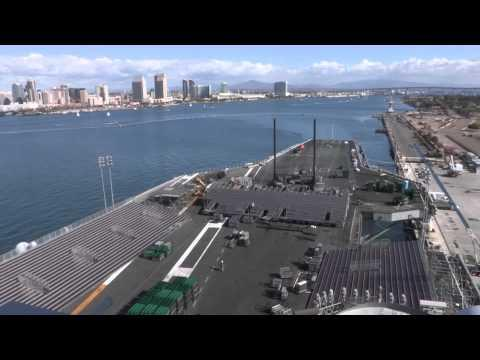 Awesome - US Navy Builds Basketball Stadium On Aircraft Carrier