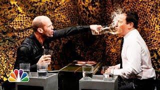 Jimmy Fallon Vs Jason Statham - Water War Game