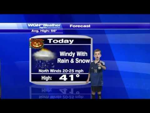 Funny Kid Takes Over The Weather Report In Chicago