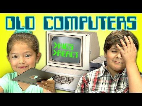 Funny Kids Reaction To Old Computers