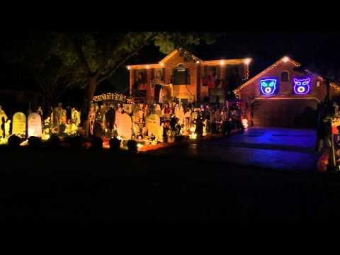 Halloween House Decoration Set To Queen's Bohemian Rhapsody
