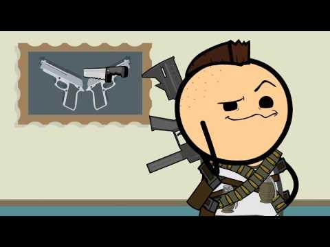 Guy Gets Excited About Using Guns - Cyanide And Happiness