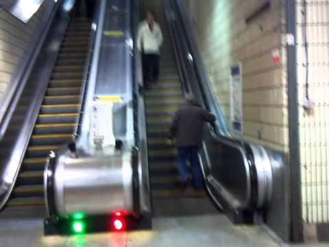 Jokes - Drunk Man Tries To Walk Up On The Going Down Escalator