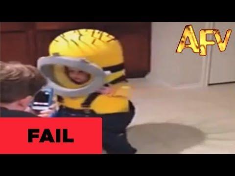 Cute Toddler's Minion Costume Fail