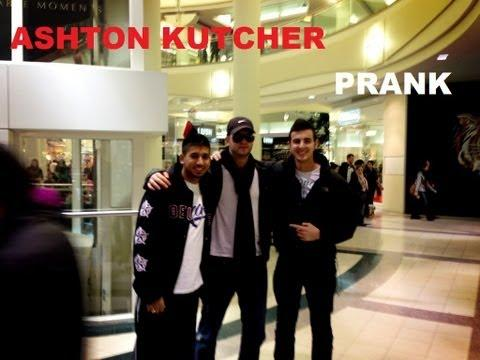 Pranks - Guy Fools People Into Thinking He's Ashton Kutcher