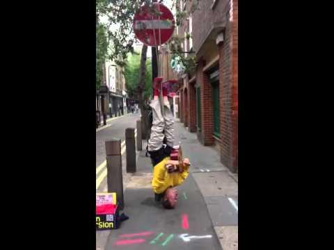 Busker Finds A Way To Get People's Attention