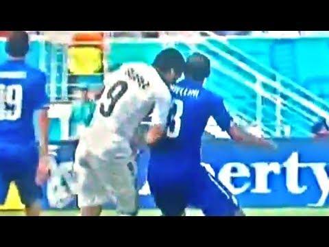 Luis Suarez Bites Opponent Player