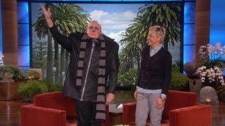 Ellen Interviews Mr Gru From Despicable Me Movie