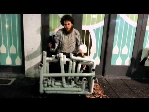 Pipe Guy Plays The Techno Nightlife Song On The PVC Pipe Instrument