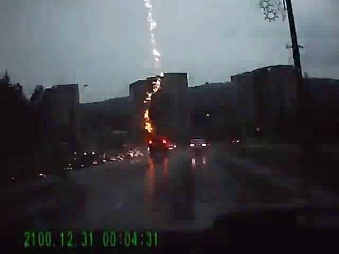 Crazy - SUV Hit By Lightning