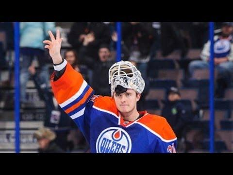 Ben Scrivens From Edmonton Oilers Makes Amazing Saves