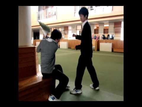 Stop Motion Blackboard Fight Scene