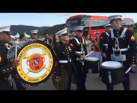 Republic Of Korea Drum Band Vs US Marine Drum Band