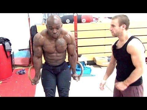 Bodybuilder Ty Og Tries Out For Gymnast